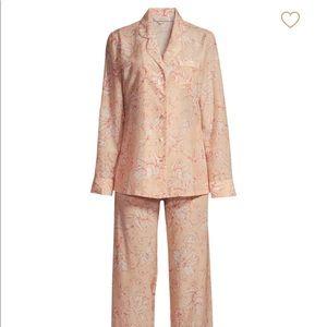 Pink floral ginia silk and cotton pajama set